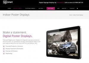Digital poster screen