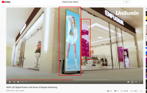 promotional video for AERO LED Digital Poster Displays