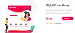 Digital Poster Design Landing Page