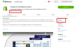Quickbooks App page